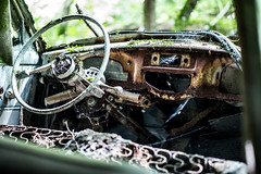 L1002189 (Bruno Meyer Photography) Tags: summicron 75mm car vintage hangar destroyed abandoned abandonedplaces lost lostcars green nevermindtheearth rustneverdie rust explore urbex inside photography raw edit leica leicaimages leicacamera leicam240 leicam leicacamerafrance leicaworld