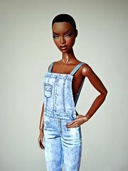 The Muse Adele (Deejay Bafaroy) Tags: fashion royalty fr integrity toys doll puppe barbie adele makeda themuse portrait porträt black schwarz denim jeans blue blau
