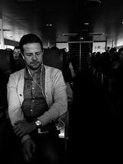 Monochromatic (Jeremy Brooks) Tags: bw blackwhite blackandwhite california ferry people sanfrancisco sanfranciscocounty strangers transit usa sanquentin unitedstates us