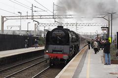 20110305 003 Watford Junction. BR Standard Class 8 4-6-2, 71000 'DUKE OF GLOUCESTER' With UK Railtours 'The Salopian'  1Z71 07.40 Euston - Shrewsbury (15038) Tags: railways trains br britishrail steam locomotive watfordjunction 71000 dukeofgloucester 462 ukrailtours thesalopian brstandardclass8