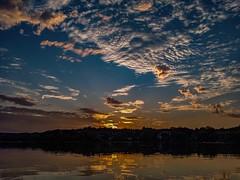 Sunset Timestack Video at Spy Pond ((Jessica)) Tags: boston arlington sunset timelapse video cloudtrails longexposure timestack massachusetts spypond starstax