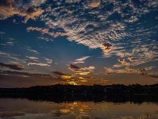 Sunset Timestack Video at Spy Pond