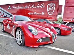 Scuderia del portello (ioriogiovanni10) Tags: scuderia red cars madeinitaly alfaromeo passione auto coolpix nikon settembre racing vallelunga alfarome