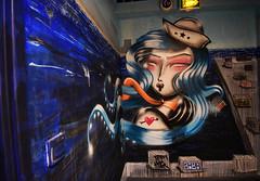 Sirène (HBA_JIJO) Tags: streetart urban graffiti paris art france artist hbajijo wall mur painting aerosol peinture kaldeanakajima murale spray bombing urbain kaldea rehab2 charactere