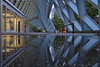 Puddle Reflection at Seattle Public Library (Paul Scearce) Tags: puddle puddlereflection library seattle washingtonstate reflection architecture