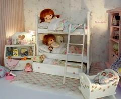 Bedtime (TutuBella) Tags: dollyshelfsunday pukipuki rosebud fairyland doll soom imdatimp cupcake bedtime bedroom bunkbeds heidiott baby bundlebabiesbyshell~elfinhugs toys