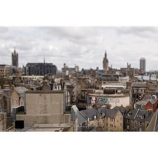 'The Granite City' Across #Aberdeen rooftops. #wallkandy #travel #scotland #nuartaberdeen #herakut #fb #f #t #p #streetart #mural