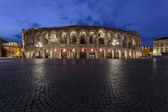 Arena di Verona nel l'ora blu (andyrousephotography) Tags: italy verona arena opera concert amphitheatre roman early morning dawn bluehour blue clouds blur longexposure le lamps illumination starburst andyrouse canon eos 5dmkiii 5d3 ef1740mmf4l