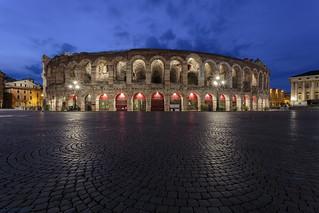 Arena di Verona nel l'ora blu