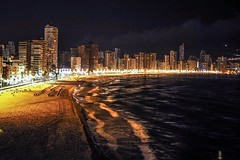Night time Benidorm. (CWhatPhotos) Tags: benidorm cwhatphotos night time sea lights olympus four thirds 43 omd em10 ii digital camera photographs photograph pics pictures pic picture image images foto fotos photography artistic that have which with contain artistc beach seaside resort spain costa blanca spanish fun hol holiday september 2017