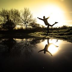 I am a light (Zeeyolq Photography) Tags: sun highkey silhouette sunset nature man sunrise êtreunelumière happy light milizac bretagne france