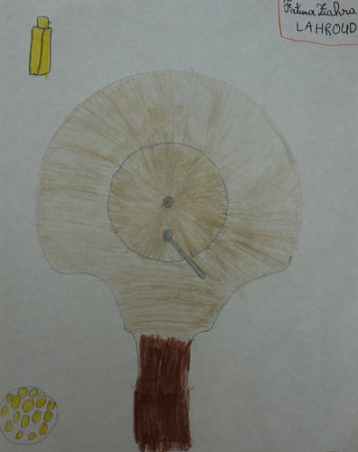 dessin de Fatima sur l'argan