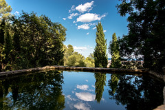 Duality (vaseHAUS) Tags: travel barcelona sky spain cloud mountain blue sea reflection mirror beauty nature trees arboreal water
