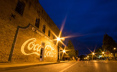 Main Street, Tuscola, Illinois (ap0013) Tags: tuscola illinois tuscolaillinois tuscolail main street mainstreet downtown smalltown cocacola small town night nighttime longexposure
