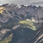 Views of Mount Cory and Other Jagged Peaks from  Sulphur Mountain Cosmic Ray Station (Banff National Park) thumbnail