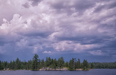 Stormy day. (PebblePicJay) Tags: forest ontario canon6d ladyevelynlake clouds green grey flat wilderness canada