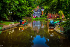 No Rain Today (Worsley Delph) (Kev Walker ¦ Ƭнαиκ Ƴσʋ 4 Ғαʌ'ƨ & Cσm) Tags: architecture building canon1855mm canon700d digitalart england hdr lancashire northwest worsley bridgewatercanal worsleydelph canal towpath barge manchester