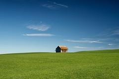 """simple"" (helmet13) Tags: d800e raw landscape barn simplicity minimalist greenmeadow bluesky silence bavaria germany bavarianswabia aoi heartaward peaceaward world100f platinumheartaward platinumpeaceaward level3worldpeacehalloffame 300faves"