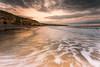 Marsden Sunset (Steven Peachey) Tags: seascape sunset marsden beach sky clouds sea canon light evening summer water cliffs leefilters ef1740mmf4l canon6d lee09gnd northeastengland southshields stevenpeachey northeastcoast goldenhour golden