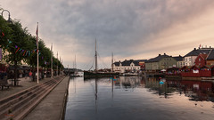 Pollen - Arendal (Øyvind Bjerkholt (Thanks for 43 million+ views)) Tags: boats city town pollen arendal norway people landscape mood dreamy hdr evening water