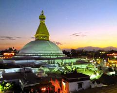 Boudhanath Stupa at night- Kathmandu, Nepal 11-10-2016 (lindamary22) Tags: boudhanath stupa kathmandu nepal sunset glow lights night