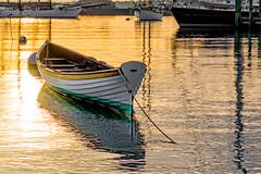 Golden Dawn on Vineyard Haven Harbor (John Piekos) Tags: shoreline summer marthasvineyard ships sunrise water dawn ocean tisbury boat sony vineyardhaven rx100 shore
