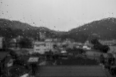 rain drops (Greg Rohan) Tags: rainyday raindrops blackwhite blackandwhite d7200 2017 bw monochrome rain water wet window phuket thailand asia