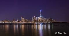 Manhattan Nights (Morkos Salama) Tags: manhattan night nights cloud clouds landscape sea river hudson nj ny nyc long longexposure sky skies reflection reflections color colorful sony a7rii lens wide building buildings street jersey city