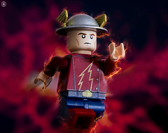 Jay Garrick (jezbags) Tags: lego legos toy toys macro macrophotography macrodreams macrolego canon60d canon 60d 100mm closeup upclose flash jay garrick jaygarrick lightening fire dash speed force minifigure minifigures dc dclego legodc justiceleague justice league hero superhero super