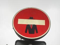 Clet Abraham (emilyD98) Tags: street art insolite rue mur wall city ville urban exploration clet abraham panneau signalisation sens interdit sticker fake roadsign road sign paris