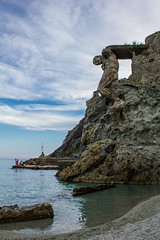 Il Gigante Statue on the Rock on the Gigante Beach, Next to Fegina Beach in Monterosso al Mare, Cinque Terre, Italy (MedCruiseGuide.com) Tags: monterossoalmare monterosso cinqueterre italia italy liguria gigantebeach feginabeach ilgigante ilgigantestatueontherock 5terre bluesky sky sea seaside summer summervacation shore beach beachday beachfun rocks vacation holiday monterossoalmarecinqueterreitaly outdoors travel tourism relaxing statue