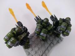 Custom Hellbringers (Nilbog Bricks) Tags: unsc custom hellbringers flame trooper flametrooper marines marine halo wars 2 citadel paint games workshop dry brush wash mega construx bloks