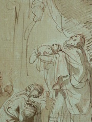 SUVÉE Joseph Benoît - La Présentation de Jésus au Temple (drawing, dessin, disegno-Louvre INV34397) - Detail 10 (L'art au présent) Tags: art painter peintre details détail détails detalles drawings dessins 17thcenturydrawings dessinsfrançais frenchdrawings peintresfrançais frenchpainters museum paris france bible adoration worship saint bless sacred holy blessed figure personnes people femme femmes woman man men virgin vierge enfant child enfance kid baby bébé childhood parents family famille croquis étude study sketch sketches dessins18e 18thcenturydrawings