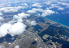Aerial View of Florida's East Coast (Colorado Sands on autumn break) Tags: aerial florida usa clouds beach city sandraleidholdt ocean sea northmiamibeach intracoastal highways beachfront biscayneblvd dixiehighway atlanticocean canal us1 coast
