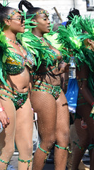 DSC_2070a Notting Hill Caribbean Carnival London Exotic Colourful Costume with Green Feather Headdress Showgirl Performer Aug 28 2017 Stunning Ladies (photographer695) Tags: notting hill caribbean carnival london exotic colourful costume showgirl performer aug 28 2017 stunning ladies with green feather headdress