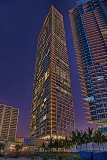 Jade Signature, 16901 Collins Avenue, Sunny Isles Beach, Florida, USA / Architect: Herzog & de Meuron Architekten / Completed: 2017 / Height Architectural:  193.9 m / 636 ft / Floors Above Ground: 57 (plus three below ground)