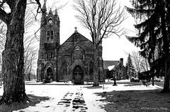 Trinity Church, Potsdam, NY, Winter 2016 (Gary L. Quay) Tags: trinity church potsdam newyork ny religion east coast stlawrence county bw black white nikon d300 gary quay