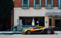 Street Parked. (Alex Penfold) Tags: mclaren p1 gtr orange black supercars supercar super car cars autos alex penfold 2017 california beverly hills america usa