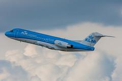 Fokker 70 KLM Cityhopper PH-KZB cn 11562 (Guillaume Besnard Aviation Photography) Tags: dus eddl düsseldorf flughafendüsseldorf düsseldorfairport canoneos canonef500f4lisusm canoneos1dsmarkiii plane planespotting airplane aircraft fokker70 klmcityhopper phkzb cn11562