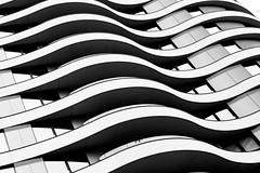 Fluctuation (Douguerreotype) Tags: monochrome abstract buildings balcony window city bw housing uk geometry british mono gb blackandwhite architecture britain urban england geometric london