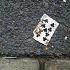 Nine of Clubs (dou_ble_you) Tags: playingcard objettrouvé