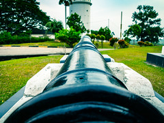 Aiming down the sights (Stratman² - (Joey and I are both ill )) Tags: canonphotography powershotg1x kualaselangor bukitmelawati altingsburglighthouse cannon vintage artillery malaysia