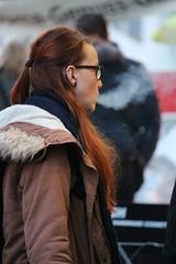 exhale (if you insist) Tags: exhale eurosmoke enjoy smoking smoker nicotine addict breath tobacco candid cigarette female gwg glasses
