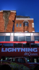 striking! (grahamxh) Tags: london alex chinneck hammersmith fulham palace road brickwork architecture lightning mcqueen