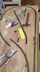 N gauge track part A (Nano Second Artist) Tags: gaugemaster military longmoor farish video iphone railway model track train gauge n