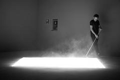 """One-Thousand-and-One-Nights"" Venice Biennale 2017 (waex99) Tags: 2017july allos italie juillet m262 venise frances leicam vacances art contemporary summicron rangefinder onethousandandonenights edith dekyndt arsenale performance brush dust performer"