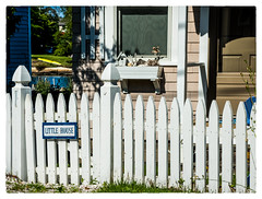 Little House (Timothy Valentine) Tags: friday 2017 vacation fence 0717 boothbayharbor maine unitedstates us