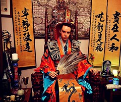 Lord Josh Allen - Feng Shui Throne Room (lordjoshallen) Tags: lordjosh lordjoshallen lamatology lamat lamat771 throne feathers clothing kongmingfan art artwork magick magical magic wealth costume chinese