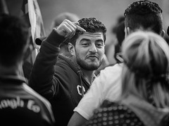 A face in the crowd (Frank Fullard) Tags: frankfullard fullard candid street portrait face crowd point here beard gesture castlebar mayo irish ireland
