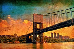George Washington Bridge, New York City (NYAndreas) Tags: bridge georgewashingtonbridge hudsonriver manhattan ny nyc riverfront usa newyorkcity urban city street architecture sky clouds flickrunitedaward landscape